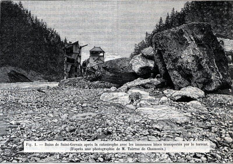 La catastrophe de saint gervais 12 13 juillet 1892 - Office de tourisme de saint gervais les bains ...